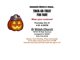 Trick-Or-Treat Fun Fair