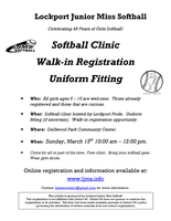LJMS Softball Clinic